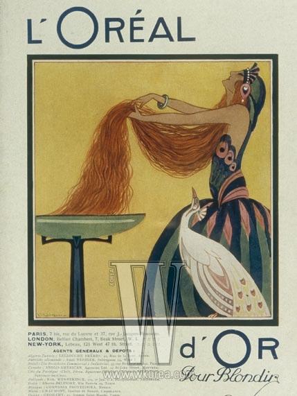 밝은 색의 염색 약'D'OR'in 1921