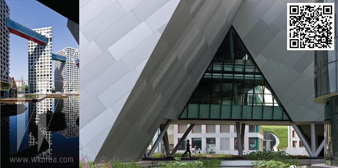 """""""중국의 다세대 건축은 지금껏 관습적이고 규격화된 양상을 보여왔지만 우리는 틀을 깨고 싶었다. 이 새로운 수직적 구조물은 도시 안에서영위하는 개성적 삶의 방식을 추구한다."""" -스티븐 홀"""