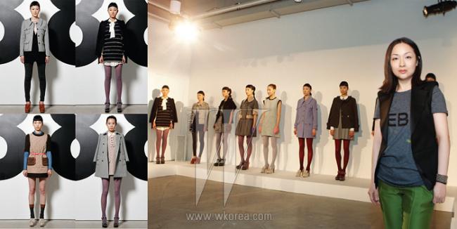 왼쪽 |  디자이너 윤원정이 손꼽은 2011 가을/겨울 시즌, 뎁의 메인 룩들. 오른쪽 |  앤디&뎁의 세컨드 브랜드, 뎁의 론칭을 알리는 프레젠테이션 현장에서 만난 디자이너 윤원정.