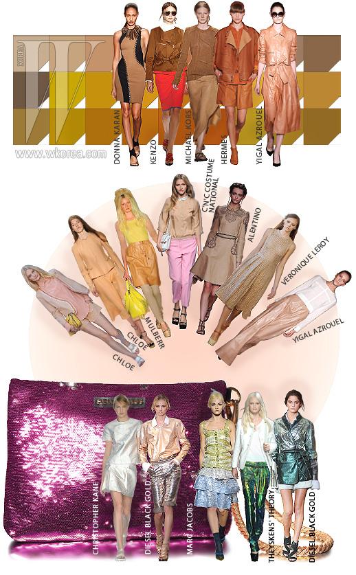 홀로그램 효과의 보라색 스팽글이 장식된 클러치는 힐리앤서스 제품.