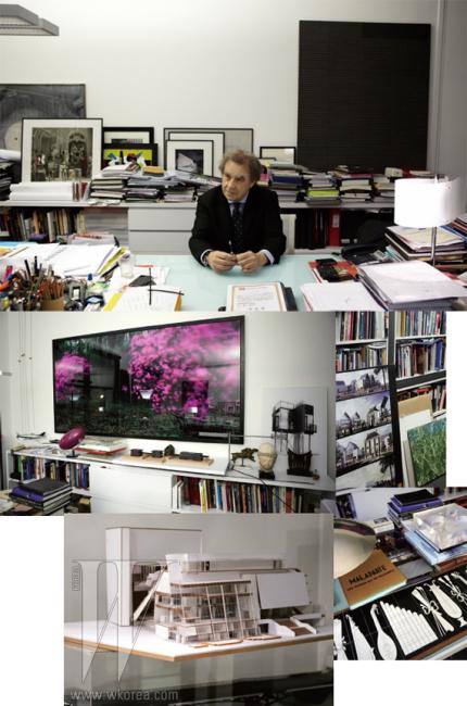 건축가 가운데는 예술가 같은 사람이 있고 철학자 같은 사람이 있다. 빌모트는 단연 두번째 부류에 속한다. 그의 집무실은 책과 그림, 사진과 아트 오브제로 가득한 서재였다. 이상적인 건축에 대한 질문은 곧 이상적인 삶에 대한 답을 불러왔다.