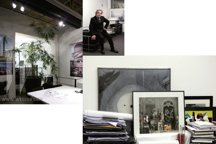 배병우와 박서보를 비롯한 한국 아티스트들의 작품을 가까이에 두고 있는 장 미셸 빌모트는 삶에서 가족과 우정 다음으로 예술의 존재가 중요하다고 말한다. 공간에 아이덴티티를 부여하고 다른 장소와 차별화하기 때문이다.