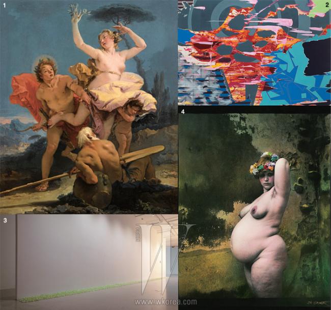 1. 지오반니 바티스타 티에폴로 '아폴론과 다프네' 2. 토비아스 레너 'O.T.' 3. 얀 샤우덱 'The Scent of a Woman' 4. 펠릭스 곤잘레스-토레스 'Untitled(RossmoreⅡ)'