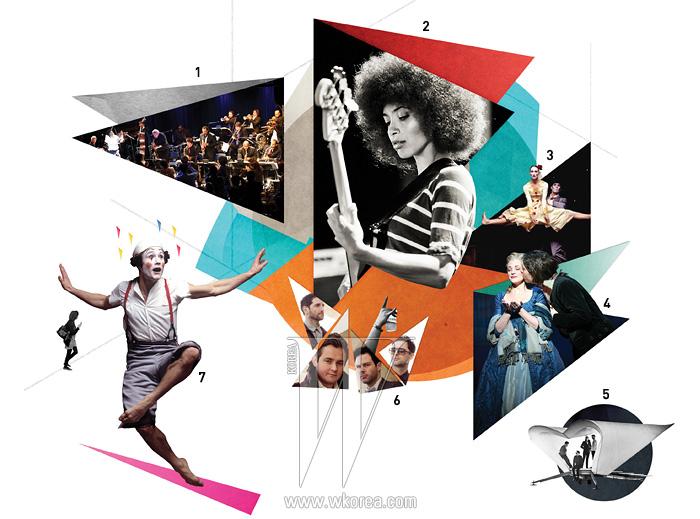 1|밍거스 빅 밴드 2|에스페란자 스팔딩3,7|램버트 댄스 컴퍼니의 4|뮤지컬  5,6|킨