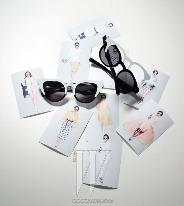 2013 S/S PUSH BUTTON 캣츠아이 선글라스와 베이식한 선글라스, 두 가지 디자인으로 변신이 가능한 푸시버튼 X 젠틀 몬스터 아이웨어.
