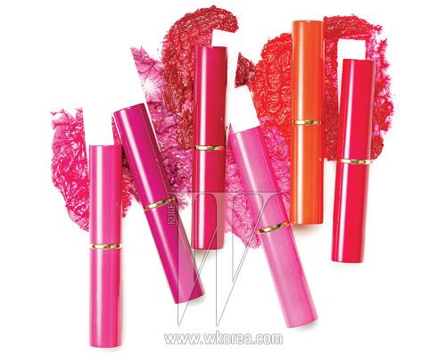 왼쪽부터 | 핫 퓨즈, 핑크 페이턴트, 엑스-포즈 로즈,테크노 잼, 포피 쇼크, 플렉시 핑크. 각각 2g, 3만8천원대.