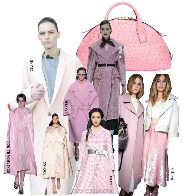 화사한 핑크색이매력적인 반달 모양토트백은미우미우 제품.가격 미정.