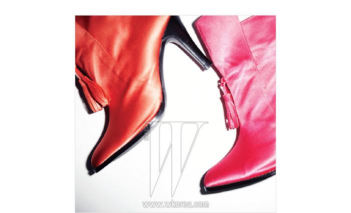 선명한 색감이 시선을 사로잡는 웨스턴 부츠는 제인 송 제품.