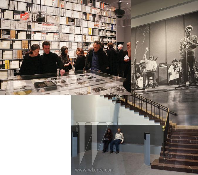 작년 말부터 올해 2월까지독일 뮌헨 하우스 데어 쿤스트에서 열렸던 ECM 아카이브 전시 현장.