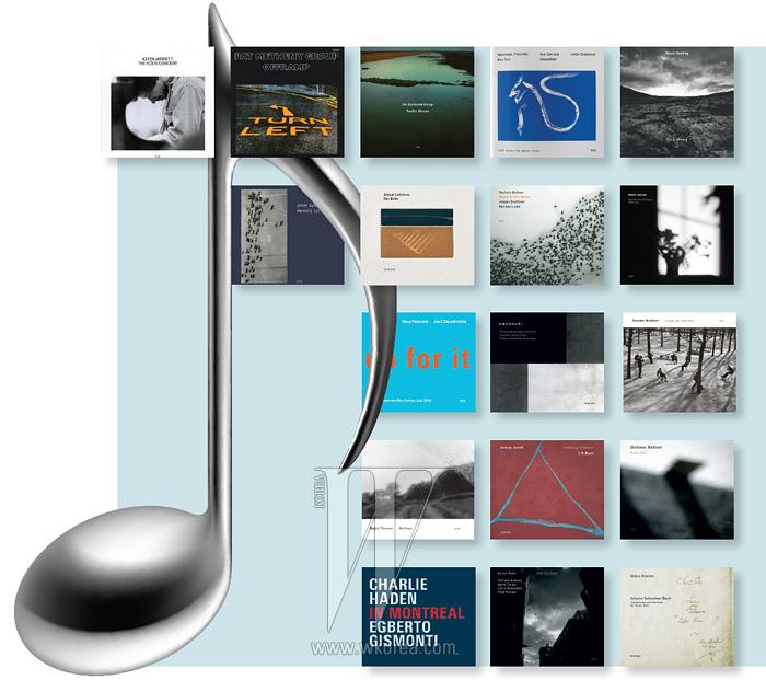 ECM의 주요 음반 아트워크들.
