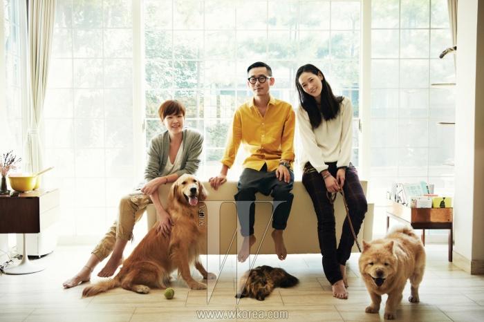 왼쪽부터 | 이주희(작가), 김도훈(긱 에디터), 이영진(모델, 배우).