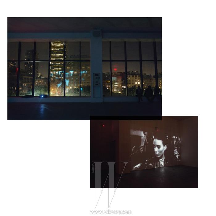 파티장 입구에서는 데이비드 핀처 감독이 만들고 루니 마라가 열연한 캘빈 클라인 향수 Down Town의 캠페인 영상이 흘러나왔다. 한 편의 영화를 보는 듯 아름다웠던 캠페인 속 루니 마라의 매력적인 모습.