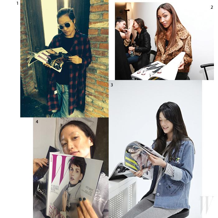 1. 포토그래퍼 조선희. 2. 모델 조단 던. 3. 배우 김새론. 4. 모델 박세라.