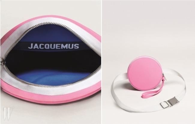 자크 무스(Jacquemus)의 파우치는 말랑말랑한 베이비 핑크 컬러가 소유 욕구를 자극한다.