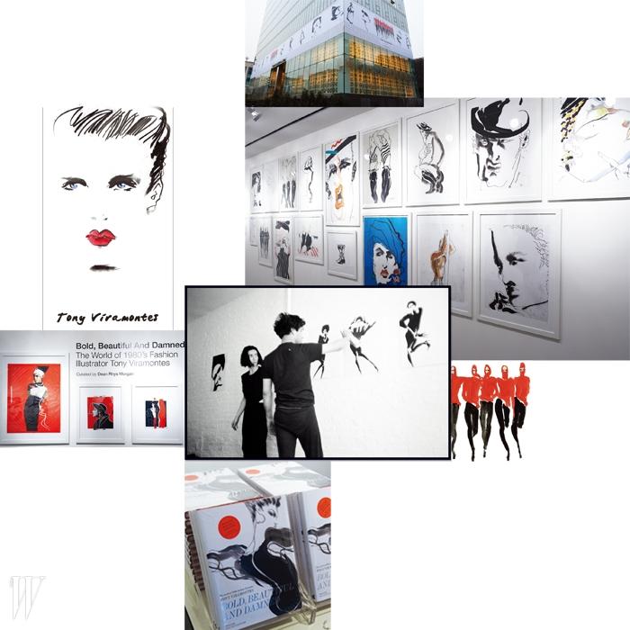 1980년대를 풍미한 천재적인 패션 일러스트레이터 토니 비라몬테스는 서른 셋의 나이로 세상을 떠난 후 곧 잊혀졌다. 10 꼬르소 꼬모 서울 6주년을 기념하며 열린 은 80년대 패션을 상징하는 그와 그의 작품을 다시금 현재로 불러오는 자리다.