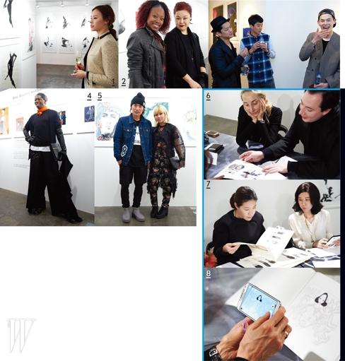 1. 토니 비라몬테스의 작품을 감상하고 있는 배우 구은애. 2. 10 꼬르소 꼬모 서울의 갤러리를 방문한