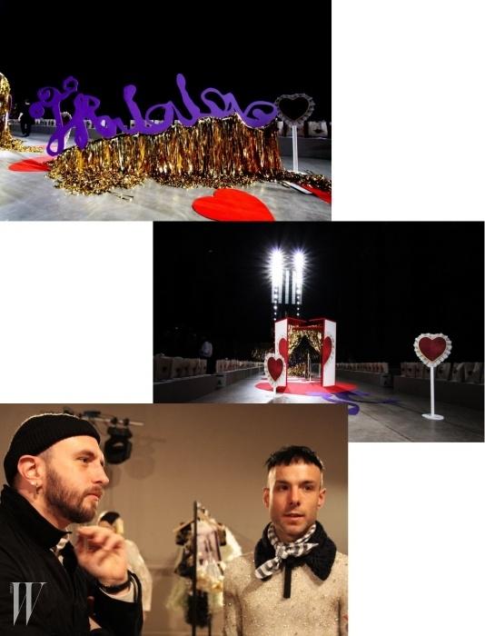 미드햄 커츠호프는 그들의 14 A/W 컬렉션 쇼장을 '트랄랄라'를 위한 장소로 꾸몄다.