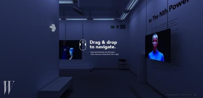 겐조의 3D 갤러리의 초기 화면.