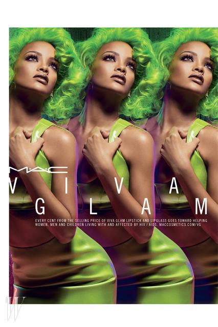 Rihanna X Viva Glam 2.0 리미티드 에디션의 광고 캠페인.