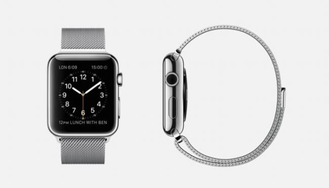 드디어 베일을 벗은 애플 워치. 기본형으로 가죽과 스테인리스로 제작된 여섯 가지 디자인의 스트랩을 고를 수 있다.