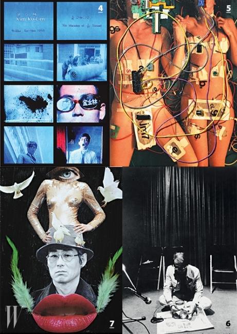 4. 진한 장미5. 24분 1초의 의미.6. 1982년 5월 27일퍼포먼스 공간에서촬영한 작가의 모습.7. 자화상