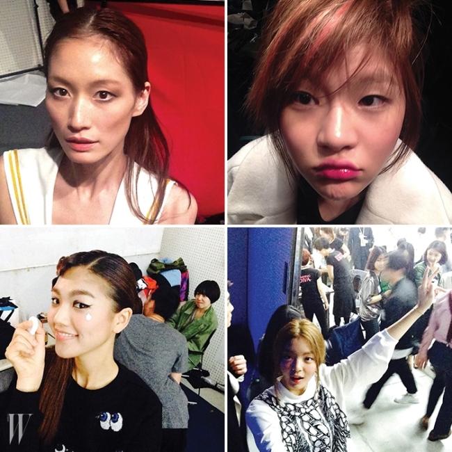 (왼쪽부터 시계방향으로) 박세라, 여혜원, 백지원, 한경현