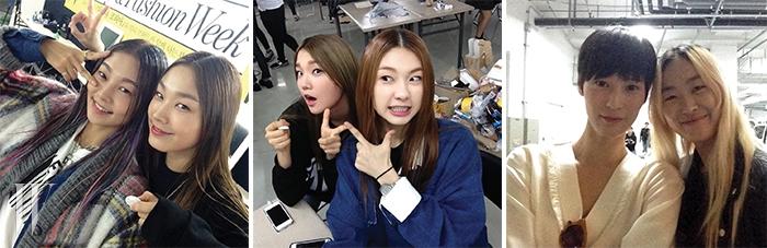 (왼쪽부터) 송해나 & 고소현 / 김진경 & 김나래 / 이영진 & 장수임