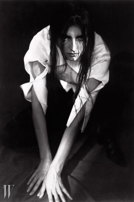 1990년앤 드묄미스터의남편 패트릭 로빈이찍은 그녀의포트레이트 사진.