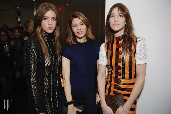 왼쪽부터 | 아델, 소피아 코폴라,샤를로트 갱스부르.