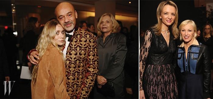 왼쪽 |다정하게 포즈를 취한애슐리 올슨과 크리스챤 루부탱.오른쪽 | 델핀 아르노와 사진가 신디 셔먼.