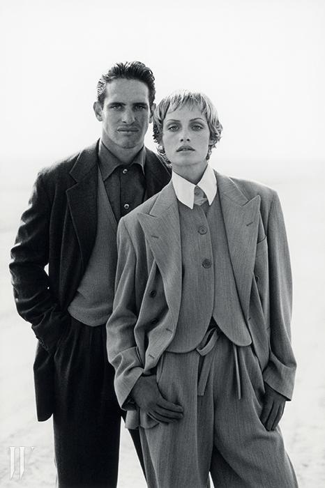 피터 린드버그가 촬영한 1993 F/W 광고 비주얼.