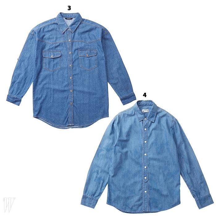 3. 드레스업할 때 활용하기좋은 간결한 셔츠는빈폴맨 제품. 15만8천원.4. 짧은 소매가 포인트인셔츠는 잭앤질 제품.6만9천원.