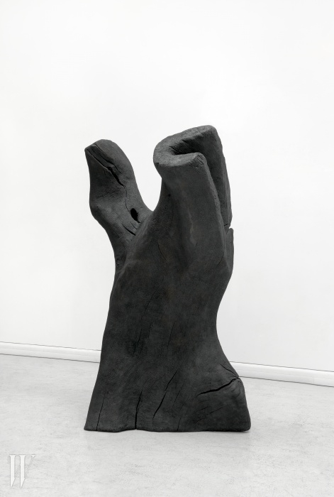 'Torso', 2011 Bronze, patinated black 196 x 94 x 61 cm