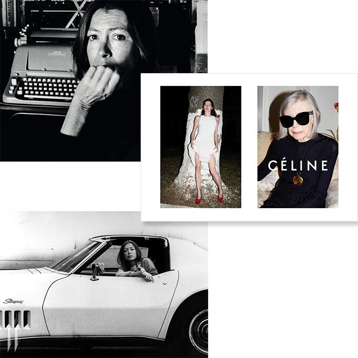 셀린 캠페인에 등장한작가 존 디디온. 젊은 시절부터쌓아온 지적인 아름다움이80세의 나이에도 여전한모습은 감동적이기까지 하다.