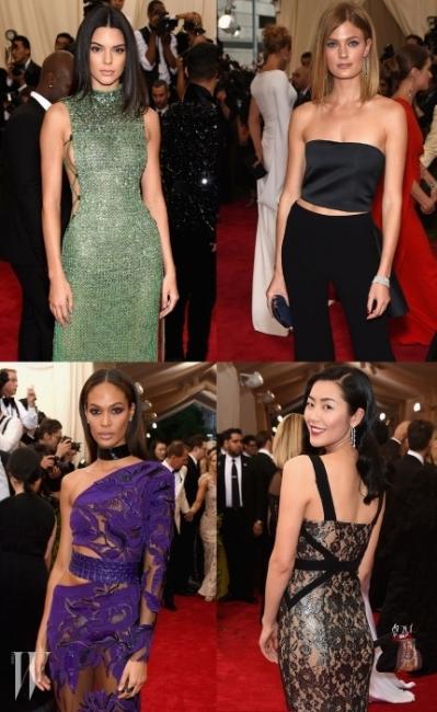 """지난5월 4일뉴욕 메트로폴리탄 뮤지엄에서 열린 멧 갈라(MET Gala) 파티. 패션계의 오스카라 불릴 정도로 영향력 있는패션행사인 만큼 세계적 스타들이 """"China: Through the Looking Glass""""라는 테마에걸맞은룩을 뽐내며 스포트라이트를 받았다. 그 중에서도 유난히 빛났던 에스티로더의 글로벌 모델 4인 켄달 제너(Kendall Jenner), 콘스탄스자 블론스키(ConstanceJablonski), 조안스몰츠(JoanSmalls) 그리고 리우 웬(Liu Wen). 그녀들의 뷰티 시크릿을 파헤쳐 보자."""