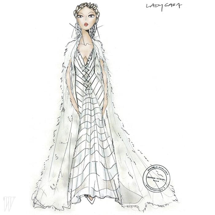 관능과 순결을 동시에 담은 화이트 드레스는소니아 리키엘의 줄리 드 리브랑의 작품.