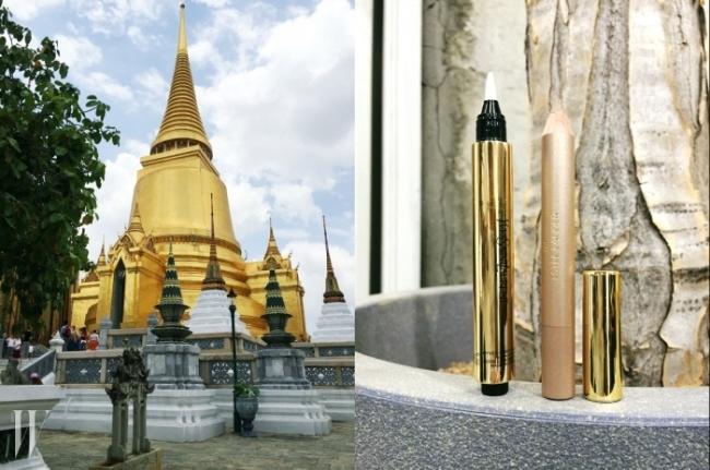 방콕 왕궁 내에 있는 프라시랏타나 체디.하늘을 찌를 듯한 뾰족하고 화려한 금빛 건물을 보니 생각나는 골드아이템.