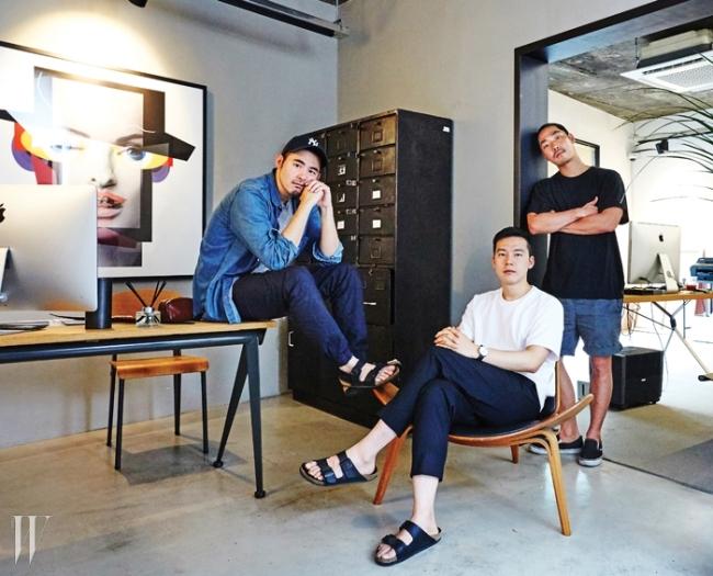 콘크리트의 세 아티스트 왼쪽부터권철화, 김재훈, 권바다.