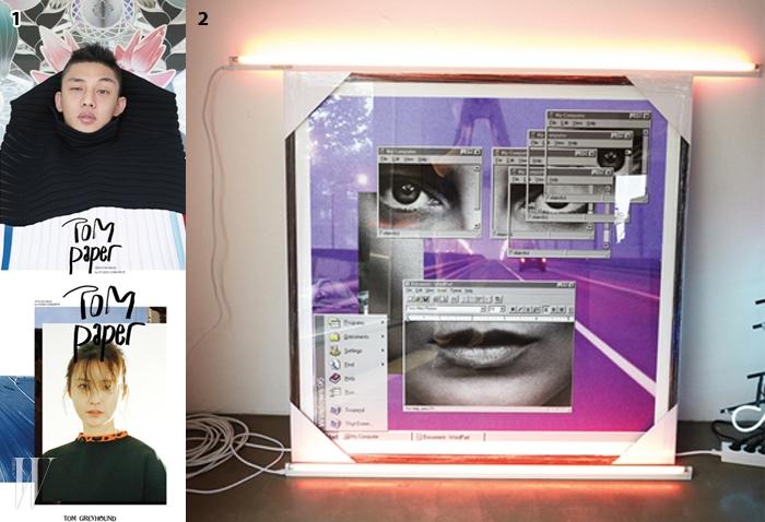 1 <톰페이퍼>의 창간호 커버.2 스튜디오 콘크리트의 갤러리에서전시 중인 권철화의 작품.