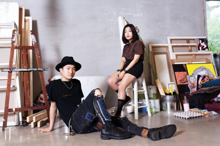 왼쪽부터 아트디렉터 조기석과세트 스타일리스트 공소현.