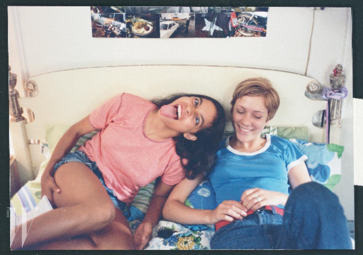 영화 'Kids' 촬영장에서 포착한 10대 시절의 로자리오 도슨과 클로에 세비니