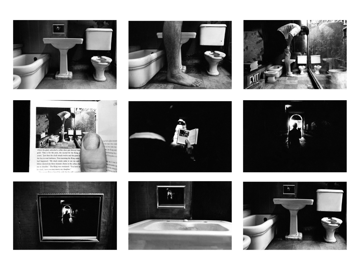 Things Are Queer, 1973 Nine gelatin silver prints with hand-applied text ⓒ Duane Michals. Courtesy of DC Moore Gallery, New York