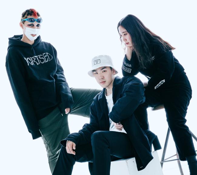 왼쪽부터ㅣ99%IS의 디자이너 박종우, 혜인서(HYEINSEO)의 디자이너 이진호, 서혜인.
