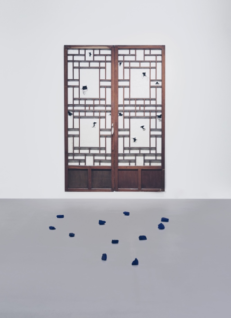 Variable Dimensions, Traditional Korean Doors, Painted Rocks, 2016