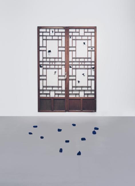 Variable Dimensions, Traditional Korean Doors, Painted Rocks, 2016