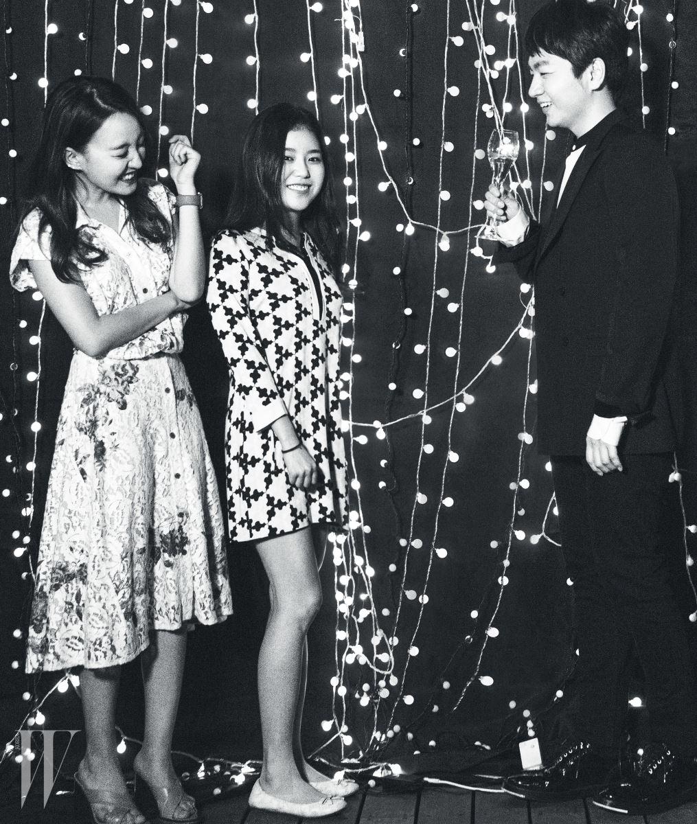 가수 윤하와 배우 조혜정 그리고 권순일, 귀여운 세 남녀의 의외의 조합.