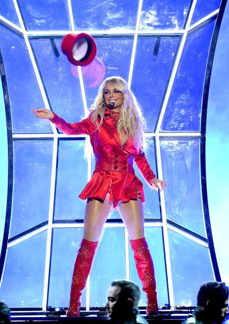 LAS VEGAS, NV - MAY 22:  Recording artist Britney Spears performs onstage during the 2016 Billboard Music Awards at T-Mobile Arena on May 22, 2016 in Las Vegas, Nevada.  (Photo by Kevin Winter/Getty Images)