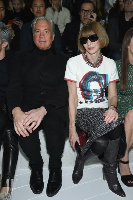 NEW YORK, NY - FEBRUARY 18:  Robert Duffy and Anna Wintour attend the Marc Jacobs Fall 2016 fashion show during New York Fashion Week at Park Avenue Armory on February 18, 2016 in New York City.  (Photo by Dimitrios Kambouris/Getty Images for Marc Jacobs)
