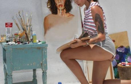 #이유있는 리그램 – 그림과 하나가 된 그녀