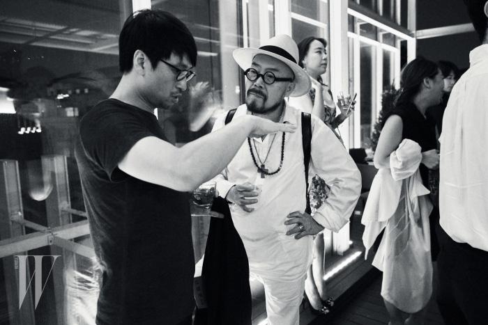 디자이너 장광효, 송지오, 이상봉 등 한국 패션계를 대표하는 디자이너 및 신진 디자이너들이 함께 자리해 교감할 수 있었던 'CFDK Night' 전경.